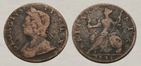 HISTORIC      1734 COLONIAL COPPER COIN     GREAT PIECE OF H