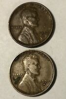 1937 D, 1937 S LINCOLN WHEAT CENT- U.S. SMALL CENTS
