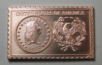 1794 UNITED STATES U.S. FLOWING HAIR DOLLAR NUMISTAMP MEDAL 1976 MORT REED
