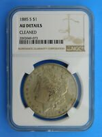 1885 S MORGAN SILVER DOLLAR NGC GRADED AU DETAILS CLEANED 519