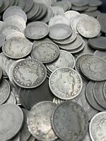 20  LIBERTY V NICKELS HALF ROLLS FULL DATE COINS LIBERTY NICKELS 1883 1913 OLD