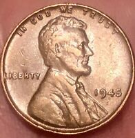 1945 NO MINK MARK WHEAT CENT CIRCULATED