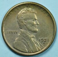 1921-S  LINCOLN CENT 1C EXTRA FINE/ABOUT UNCIRCULATED DETAILS EXTRA FINE /AU