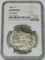 1893 $1 MORGAN SILVER DOLLAR  NGC GRADED AU DETAILS CLEANED
