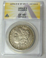 ANACS EF45 DETAIL 1894-O MORGAN SILVER DOLLAR NEW ORLEANS MINT EXTRA FINE 45 COIN