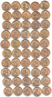 50PCS ROLL 1945 LINCOLN CENT CHOICE MINT STATE UNCIRCULATED BU RED CONDITION