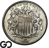 1867 SHIELD NICKEL WITH RAYS BETTER DATE COLLECTOR COIN