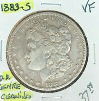 1883-S MORGAN SILVER DOLLAR  VF  GENTLE CLEANING  REF D/D