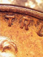 1935 LINCOLN WHEAT CENT AU  MACHINE DOUBLED COIN