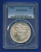 1902 P PCGS MINT STATE 66 MORGAN SILVER DOLLAR $1  DATE 1902-P MINT STATE 66 PQ GEM COIN
