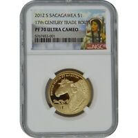 2012 S SACAGAWEA PROOF ONE DOLLAR COIN NGC PF70 UC 17TH CENT