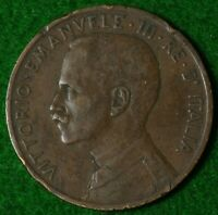 ITALY 5 CENT 1908    YEAR IN REASONABLE CONDITION