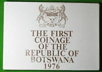 ROYAL MINT PROOF COIN SET BOTSWANA 1976 IN ISSUE CASE