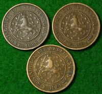 NETHERLANDS HALF CENTS   1886 1891 1901 IN