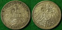GERMANY 1 MARK 1902 F   ABOUT UNCIRCULATED
