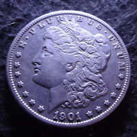 1901-S MORGAN SILVER DOLLAR - CHOICE VF DETAILS FROM THE SAN FRANCISCO MINT
