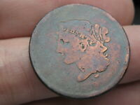 1839 BOOBY HEAD LARGE CENT PENNY, VG DETAILS