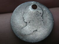 1809-1828 SILVER CAPPED BUST DIME- OLD TYPE COIN, HOLED