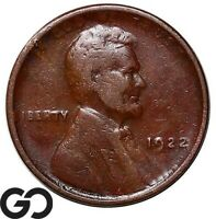 1922 NO D LINCOLN CENT WHEAT PENNY STRING REVERSE COVETED KE