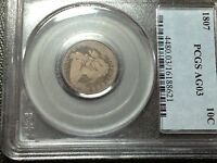 1807 PCGS AG-3  BUST DIME LARGE EAGLE     COIN