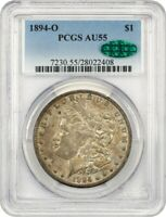 1894-O $1 PCGS/CAC AU55 - BETTER DATE FROM NEW ORLEANS - MORGAN SILVER DOLLAR