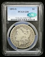 1893-S MORGAN SILVER DOLLAR PCGS G06 CAC CERTIFIED - 07551