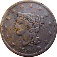 1839 BRAIDED CENT  HEAD OF 1840  FINE DETAILS