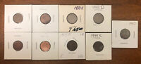 LOT OF LINCOLN CENTS 4 NONSTRUCK BLANKS 1918 D 1935 S 1940 D 1944 S & 1943 WHEAT