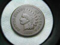 US COINS 1877 KEY DATE ORIGINAL INDIAN HEAD CENT  SELLING EN