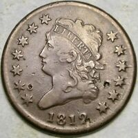 1812 CLASSIC HEAD LARGE CENT  SMALL DATE APPEALIN BOLD SHARP
