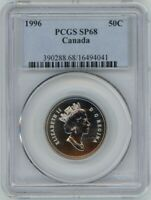CANADA 50 CENTS 1996 PCGS SP68