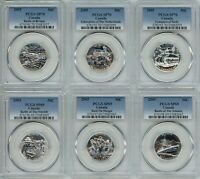 CANADA 50 CENTS WWII BATTLES COLLECTION 3X PCGS SP69   3X PCGS SP70