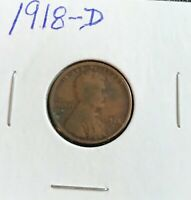 MUST GO GOING OUT OF BUSINESS 1918-D LINCOLN CENT