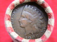 LINCOLN WHEAT CENT ROLL  1906 - 1926D CENT ON END