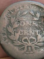 1802 DRAPED BUST LARGE CENT PENNY- NORMAL REVERSE