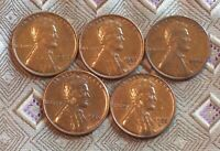 1952-P/D/S  1955-P/D LINCOLN WHEAT CENT'S   5 COIN   ITM2341