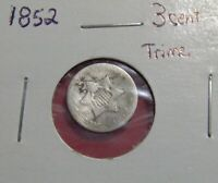 1852 THREE CENTS SILVER 3C  SHIPS FREE A2417