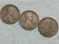 1927 P 1928 P 1929 P  LINCOLN WHEAT CENT PENNY SET OF 3 COINS  LOT
