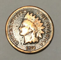 1872 INDIAN HEAD CENT PENNY BOLD N
