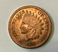 1909 S INDIAN HEAD CENT FULL LIBERTY SOME DIAMONDS