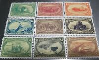 US STAMPS 285 93 1898 TRANS MISSISSIPPI EXPO REPRINT REPRODUCTION PLACE HOLDERS