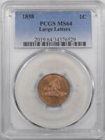 1858 FLYING EAGLE CENT - LARGE LETTERS - PCGS MINT STATE 64