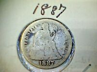 1887  LIBERTY SEATED SILVER DIME