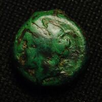 16 PUNIC SICILY PERSEPHONE RV HORSE GALLOPING 6.18 GRAMS 16 7MM 4TH CENT BC