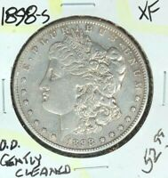 1898-S MORGAN SILVER DOLLAR  EXTRA FINE   GENTLY CLEANED  COIN REF D/D