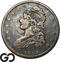 1834 CAPPED BUST HALF DOLLAR EARLY DATE SILVER 50C