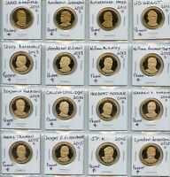 FROSTED PROOF US PRESIDENTIAL DOLLAR COINS 16 DIFFERENT PRES