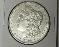 CHOICE AU 1903 MORGAN SILVER DOLLAR ABOUT UNCIRCULATED PHILADELPHIA MINT 21921