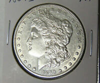 AU 1889-S MORGAN SILVER DOLLAR ABOUT UNCIRCULATED SAN FRANCISCO MINT 22021