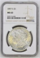 1897 S MORGAN SILVER DOLLAR MINT STATE 63 NGC